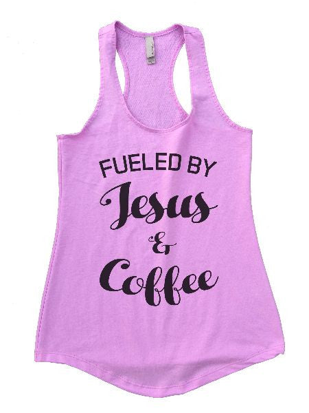 Fueled By Jesus & Coffee Womens Workout Tank Top 1128 - Funny Shirts Tank Tops Burnouts and Triblends  - 6
