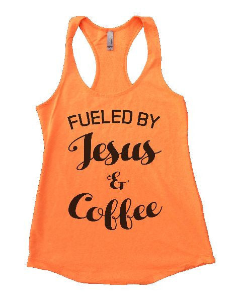 Fueled By Jesus & Coffee Womens Workout Tank Top 1128 - Funny Shirts Tank Tops Burnouts and Triblends  - 5