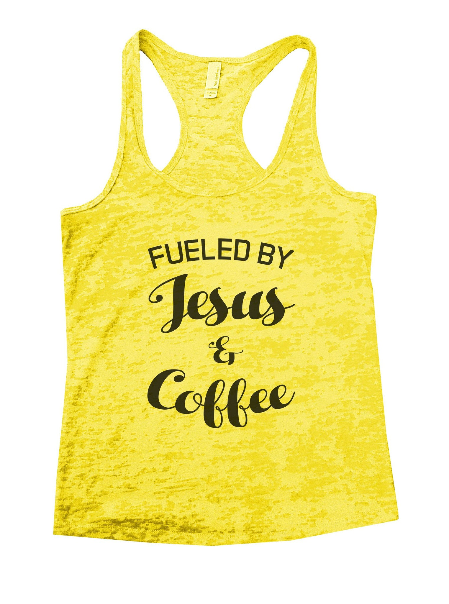 Fueled By Jesus & Coffee Burnout Tank Top By BurnoutTankTops.com - 1128 - Funny Shirts Tank Tops Burnouts and Triblends  - 7