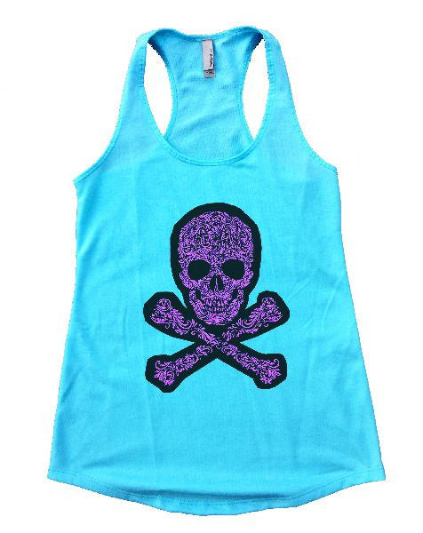 Skull Womens Workout Tank Top 1163 - Funny Shirts Tank Tops Burnouts and Triblends  - 1
