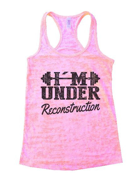 Under Reconstruction Burnout Tank Top By BurnoutTankTops.com - 1173 - Funny Shirts Tank Tops Burnouts and Triblends  - 4