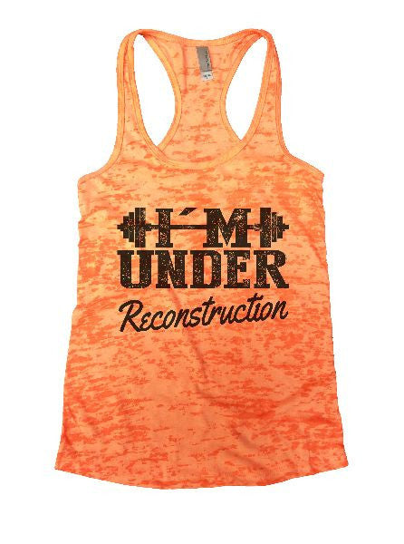 Under Reconstruction Burnout Tank Top By BurnoutTankTops.com - 1173 - Funny Shirts Tank Tops Burnouts and Triblends  - 5