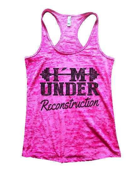 Under Reconstruction Burnout Tank Top By BurnoutTankTops.com - 1173 - Funny Shirts Tank Tops Burnouts and Triblends  - 3