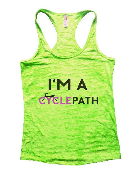 I'm A Cyclepath Burnout Tank Top By BurnoutTankTops.com - 1174 - Funny Shirts Tank Tops Burnouts and Triblends  - 2