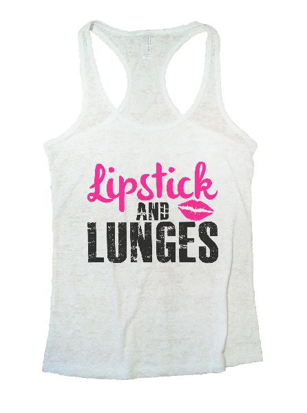 Lipstick And Lunges Burnout Tank Top By BurnoutTankTops.com - 1191 - Funny Shirts Tank Tops Burnouts and Triblends  - 5