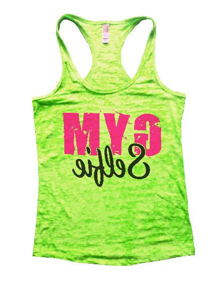 Gym Selfie Burnout Tank Top By BurnoutTankTops.com - 1249 - Funny Shirts Tank Tops Burnouts and Triblends  - 2