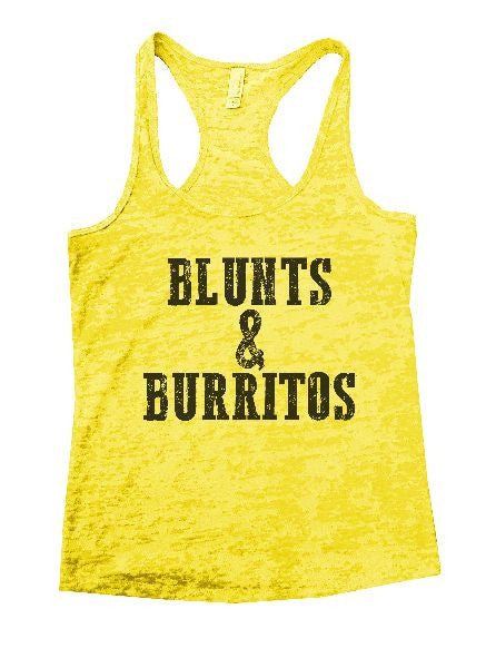 Blunts And Burritos Burnout Tank Top By BurnoutTankTops.com - 1279 - Funny Shirts Tank Tops Burnouts and Triblends  - 3