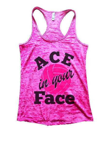 ACE In Your Face Burnout Tank Top By BurnoutTankTops.com - 1328 - Funny Shirts Tank Tops Burnouts and Triblends  - 3