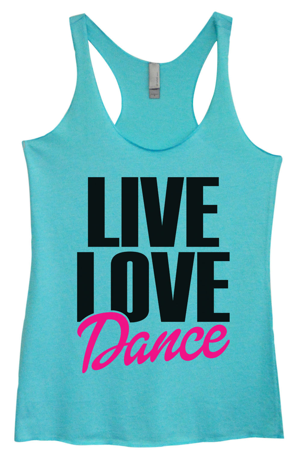 Womens Fashion Triblend Tank Top - Live Love Dance - Tri-1350 - Funny Shirts Tank Tops Burnouts and Triblends  - 4