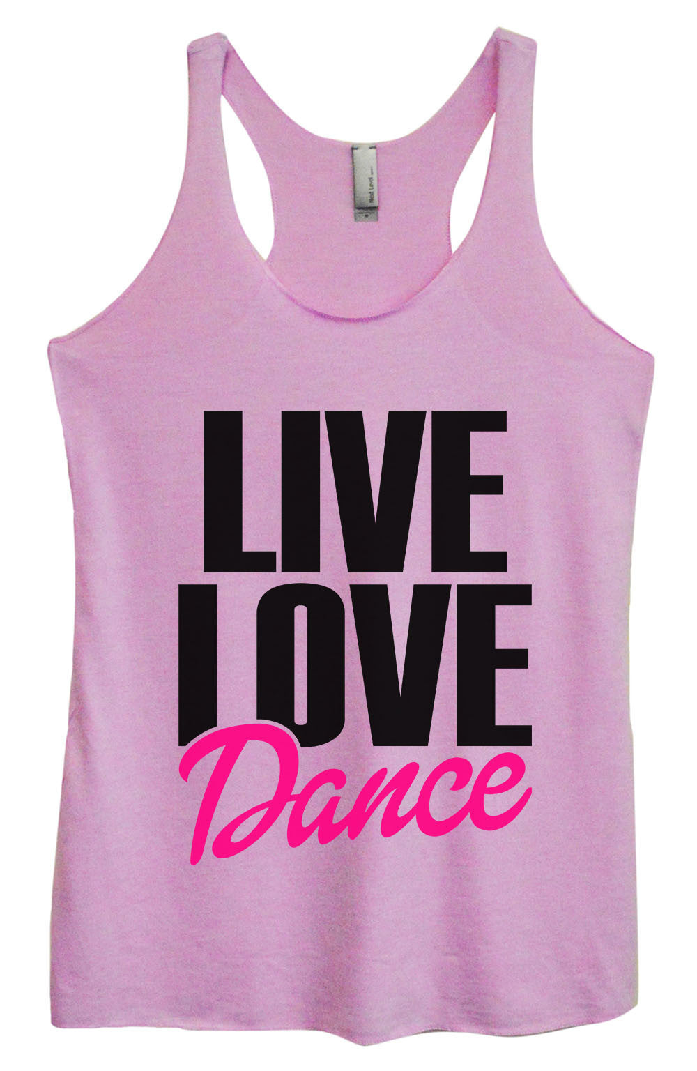 Womens Fashion Triblend Tank Top - Live Love Dance - Tri-1350 - Funny Shirts Tank Tops Burnouts and Triblends  - 3
