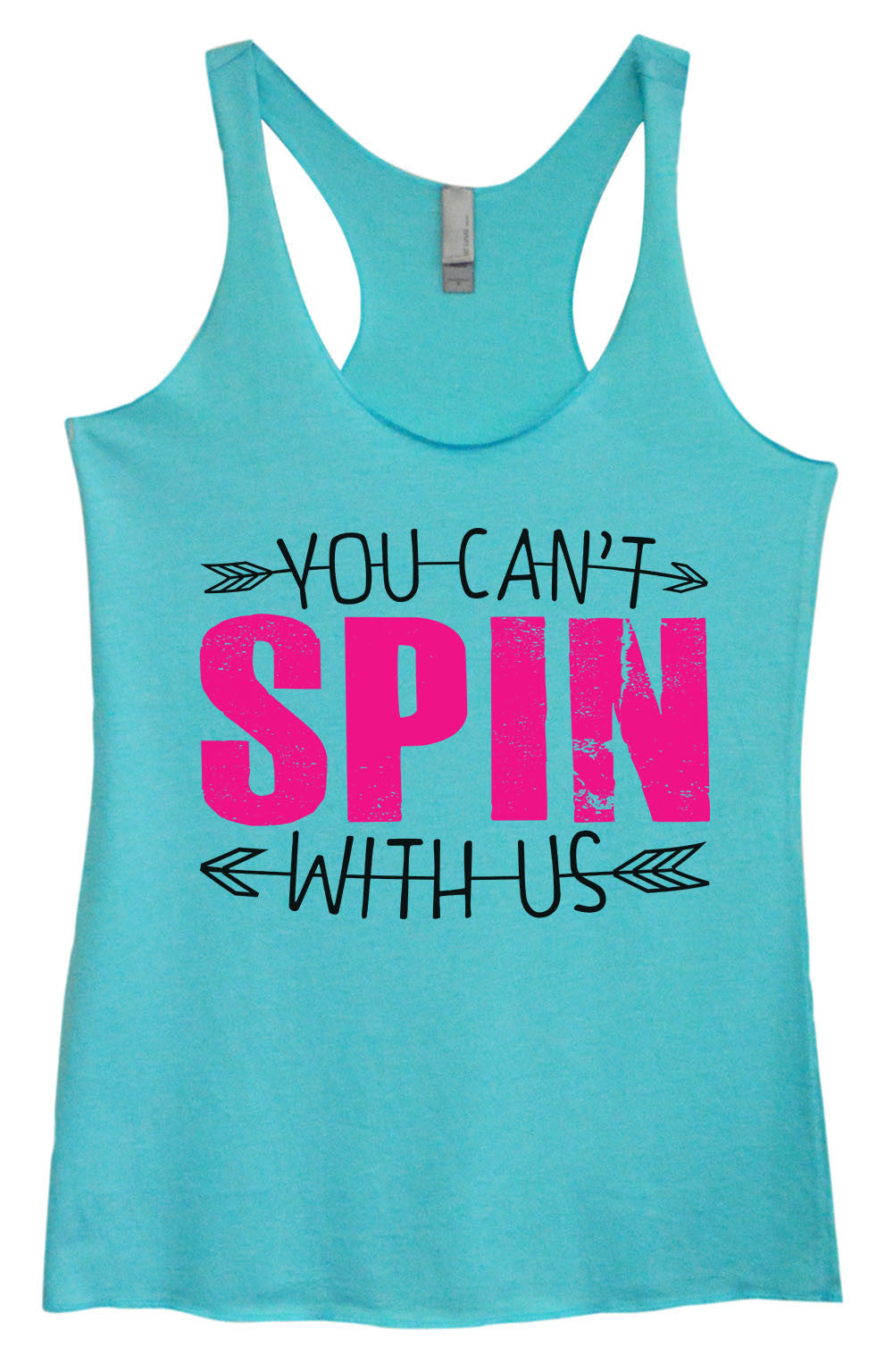 Womens Fashion Triblend Tank Top - You Can't Spin With Us - Tri-1356 - Funny Shirts Tank Tops Burnouts and Triblends  - 2