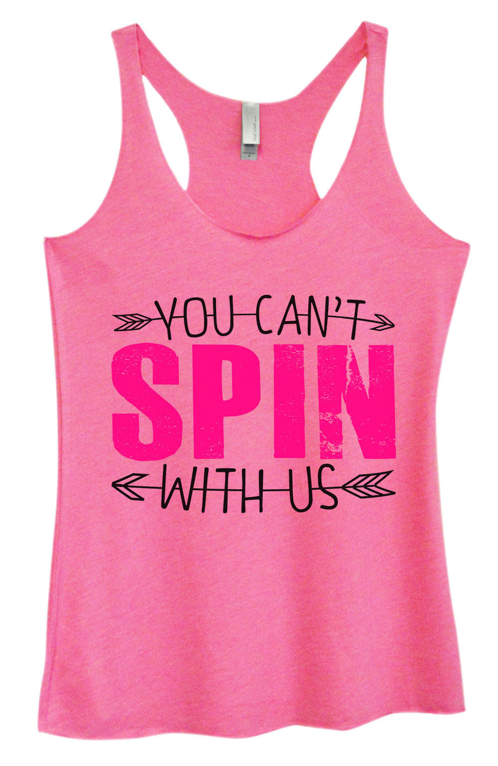 Womens Fashion Triblend Tank Top - You Can't Spin With Us - Tri-1356 - Funny Shirts Tank Tops Burnouts and Triblends  - 4