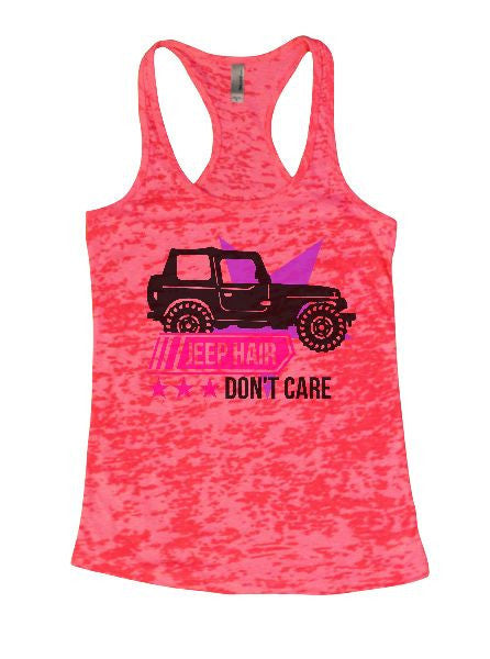 Jeep Hair Don't Care Burnout Tank Top By BurnoutTankTops.com - 1371 - Funny Shirts Tank Tops Burnouts and Triblends  - 5