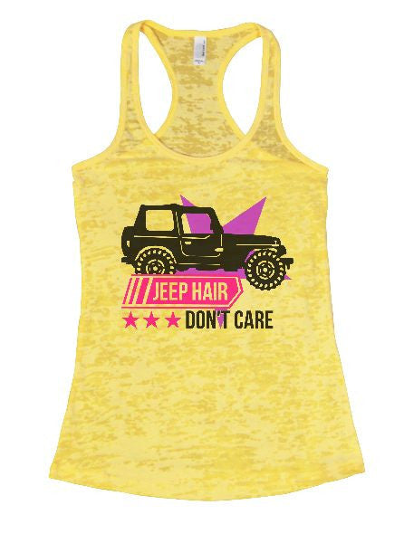 Jeep Hair Don't Care Burnout Tank Top By BurnoutTankTops.com - 1371 - Funny Shirts Tank Tops Burnouts and Triblends  - 3