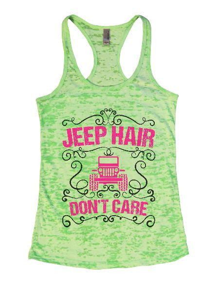 Jeep Hair Don't Care Burnout Tank Top By BurnoutTankTops.com - 1372 - Funny Shirts Tank Tops Burnouts and Triblends  - 2
