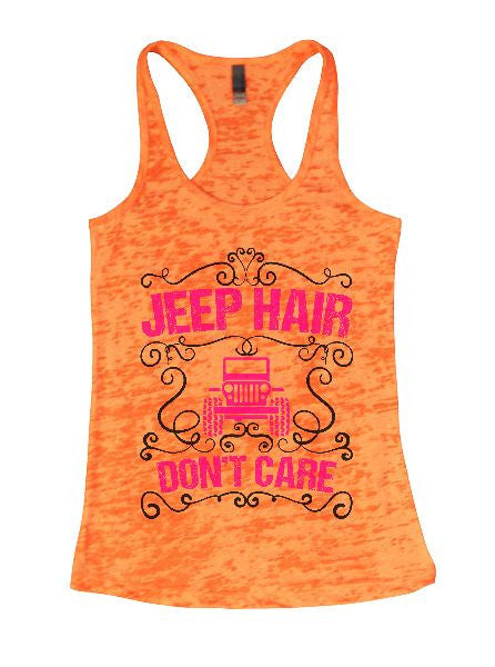 Jeep Hair Don't Care Burnout Tank Top By BurnoutTankTops.com - 1372 - Funny Shirts Tank Tops Burnouts and Triblends  - 4