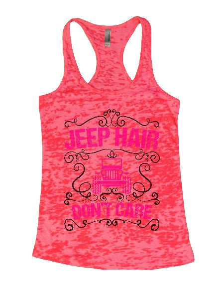 Jeep Hair Don't Care Burnout Tank Top By BurnoutTankTops.com - 1372 - Funny Shirts Tank Tops Burnouts and Triblends  - 6