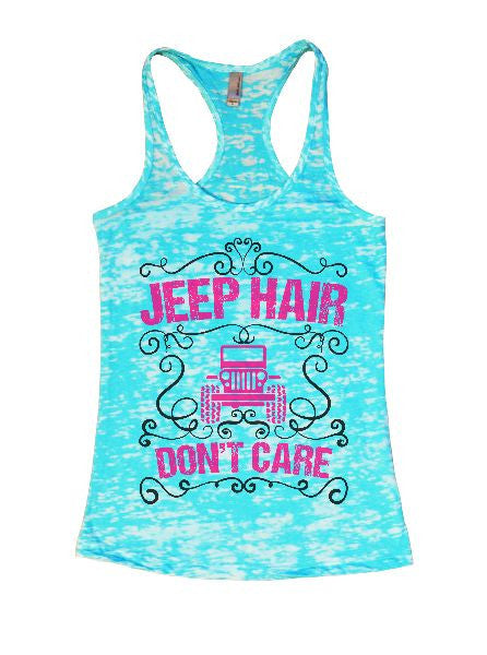 Jeep Hair Don't Care Burnout Tank Top By BurnoutTankTops.com - 1372 - Funny Shirts Tank Tops Burnouts and Triblends  - 7