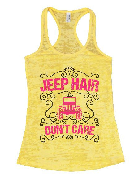 Jeep Hair Don't Care Burnout Tank Top By BurnoutTankTops.com - 1372 - Funny Shirts Tank Tops Burnouts and Triblends  - 5