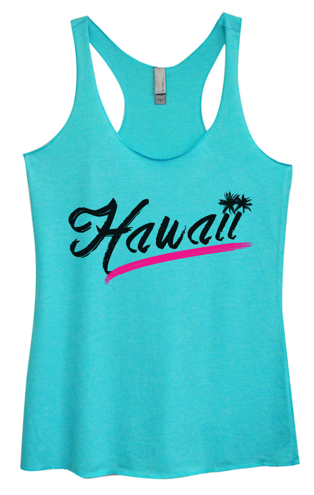 Womens Fashion Triblend Tank Top - Hawaii - Tri-1392 - Funny Shirts Tank Tops Burnouts and Triblends  - 4