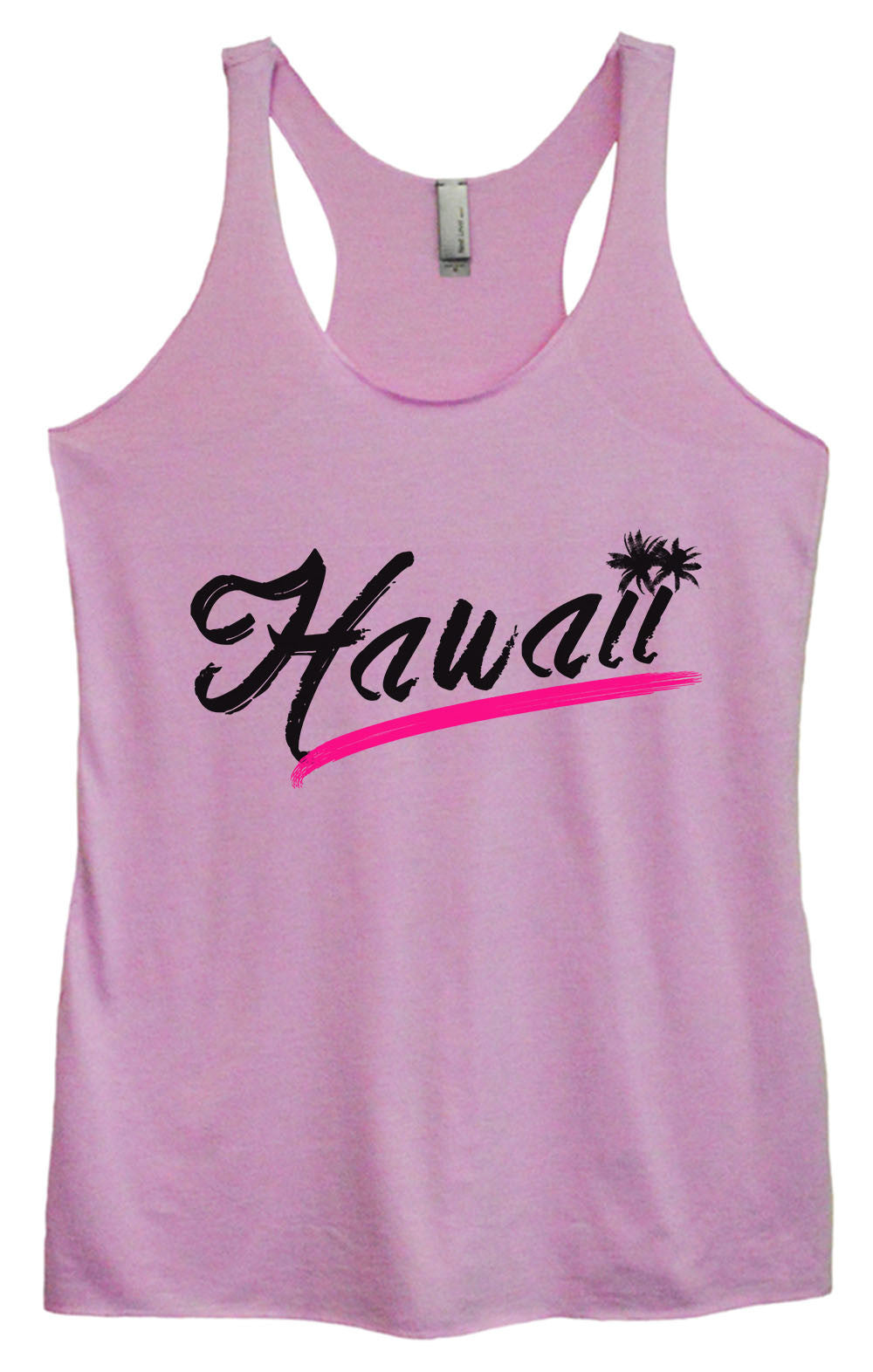 Womens Fashion Triblend Tank Top - Hawaii - Tri-1392 - Funny Shirts Tank Tops Burnouts and Triblends  - 3
