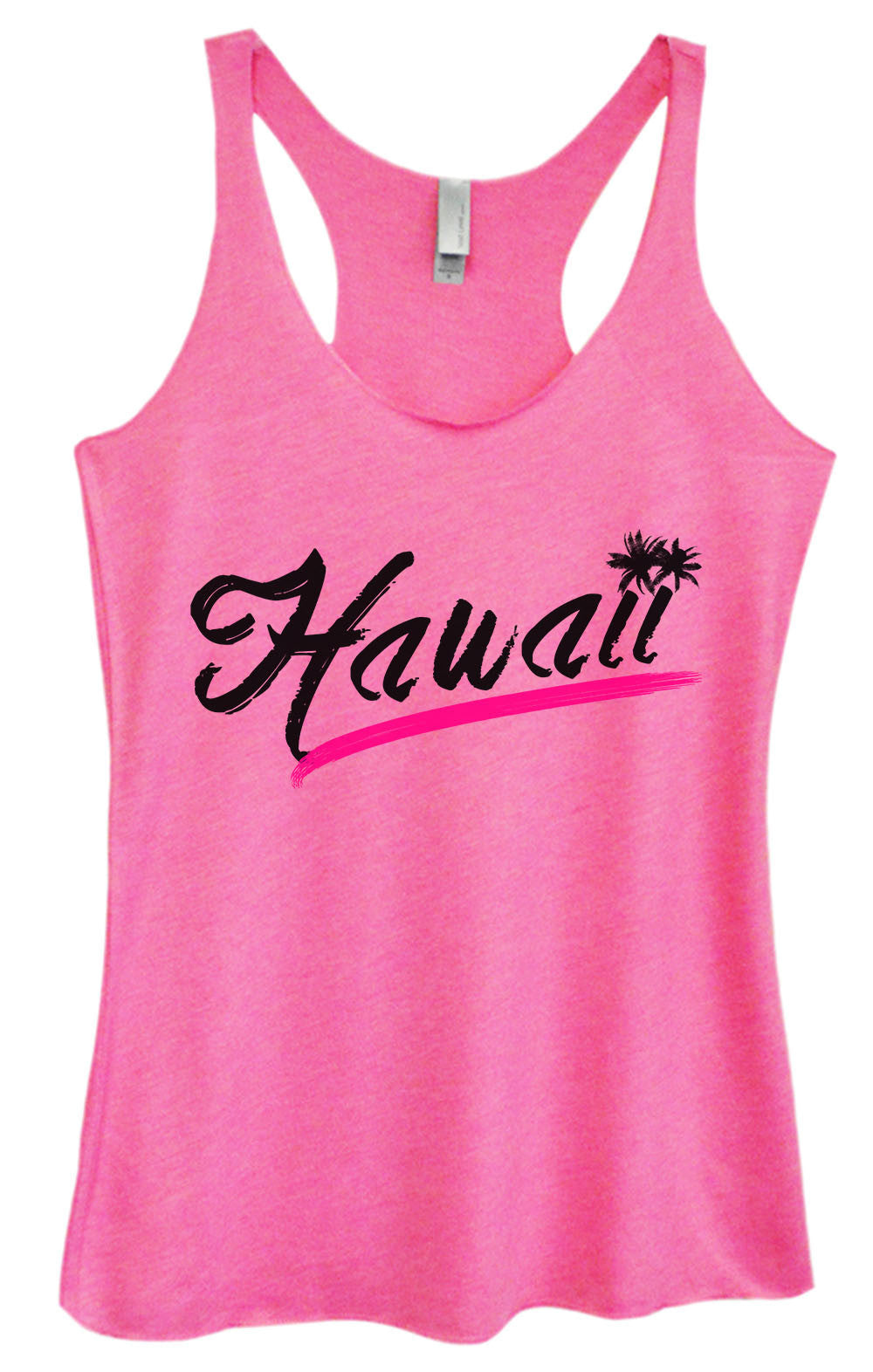 Womens Fashion Triblend Tank Top - Hawaii - Tri-1392 - Funny Shirts Tank Tops Burnouts and Triblends  - 1