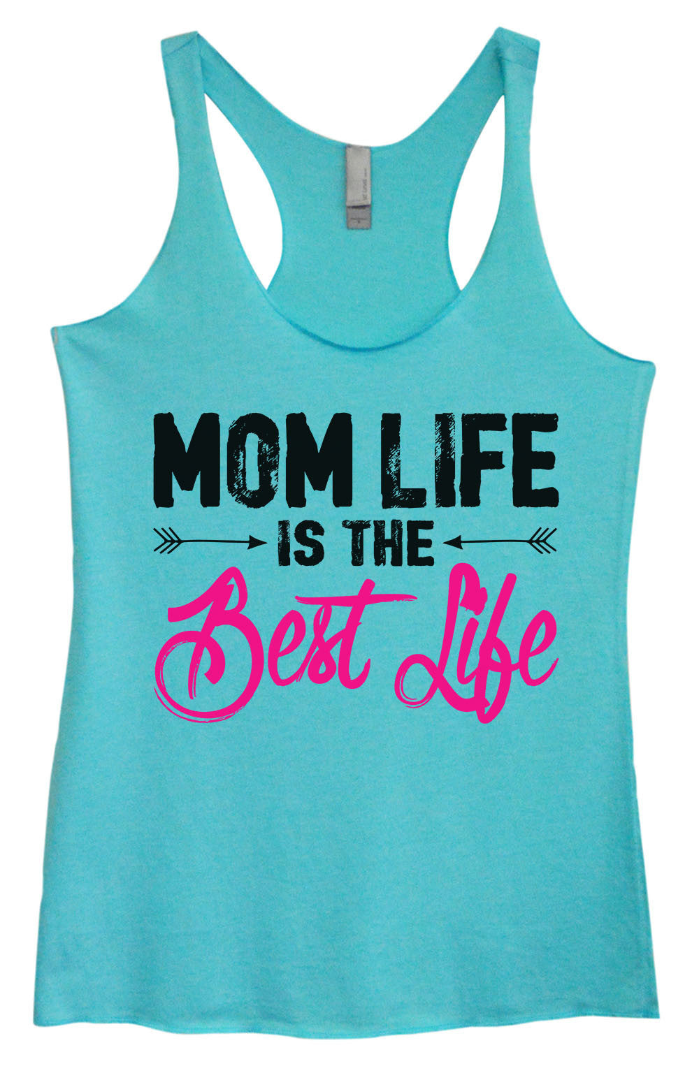 Womens Fashion Triblend Tank Top - Mom Life Is The Best Life - Tri-1395 - Funny Shirts Tank Tops Burnouts and Triblends  - 3