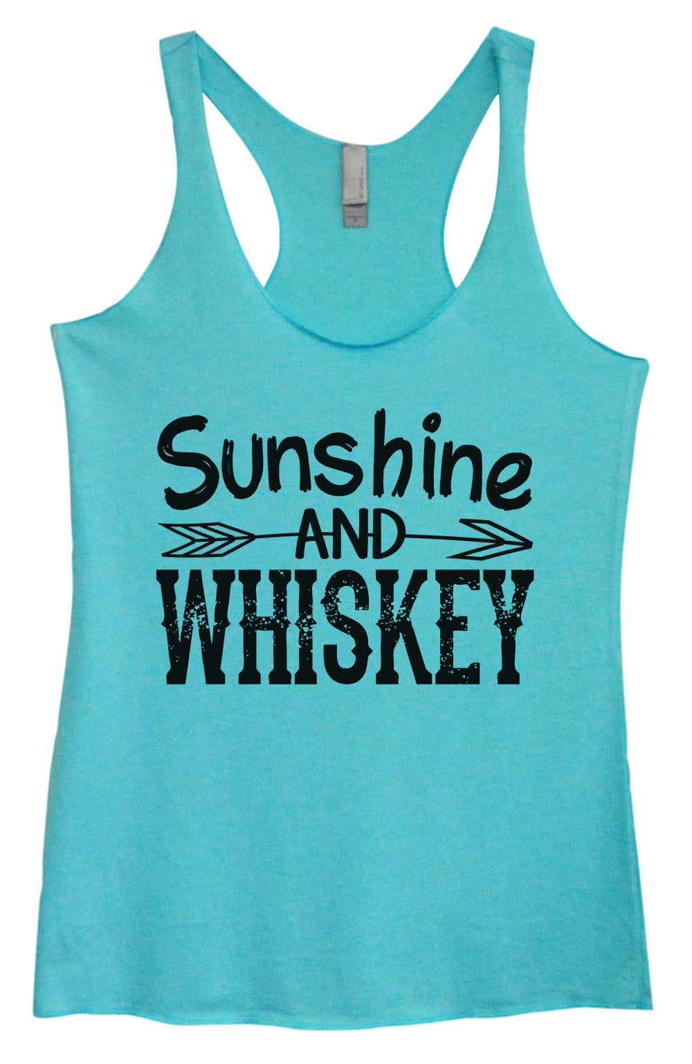 Womens Fashion Triblend Tank Top - Sunshine And Whiskey - Tri-1406 - Funny Shirts Tank Tops Burnouts and Triblends  - 3