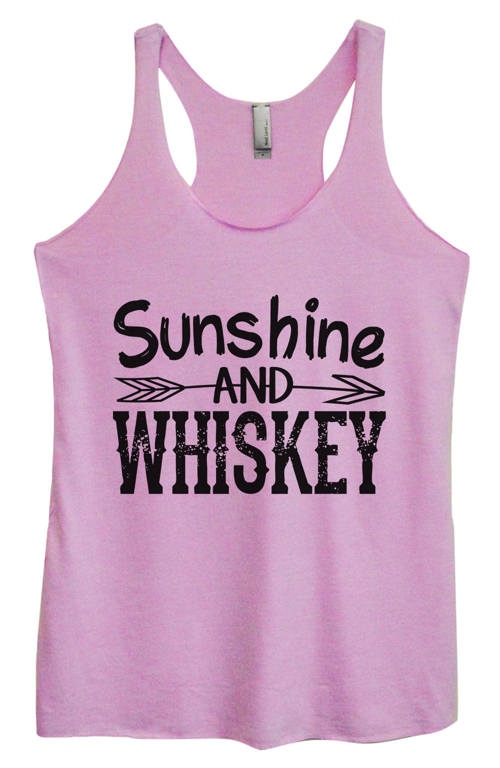 Womens Fashion Triblend Tank Top - Sunshine And Whiskey - Tri-1406 - Funny Shirts Tank Tops Burnouts and Triblends  - 1