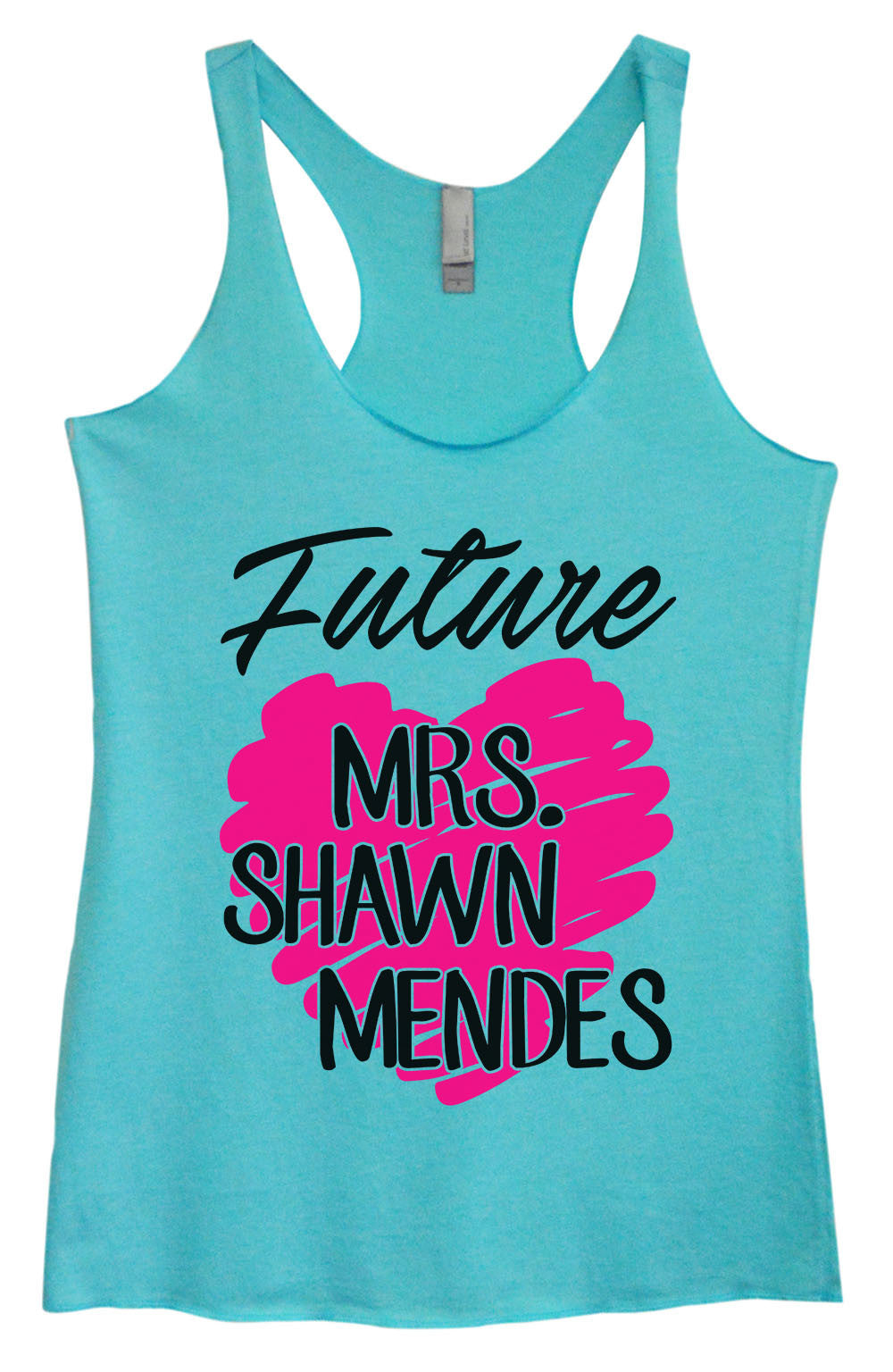 Womens Fashion Triblend Tank Top - Future MRS. Shawn Mendes - Tri-1415 - Funny Shirts Tank Tops Burnouts and Triblends  - 2