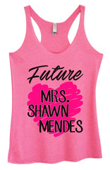 Womens Fashion Triblend Tank Top - Future MRS. Shawn Mendes - Tri-1415 - Funny Shirts Tank Tops Burnouts and Triblends  - 4
