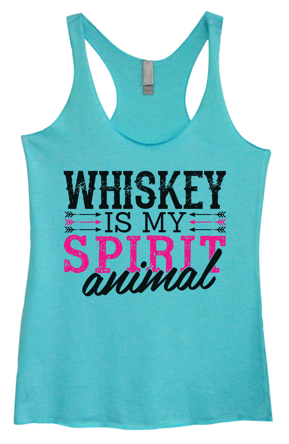 Womens Fashion Triblend Tank Top - Whiskey Is My Spirit Animal - Tri-1435 - Funny Shirts Tank Tops Burnouts and Triblends  - 4