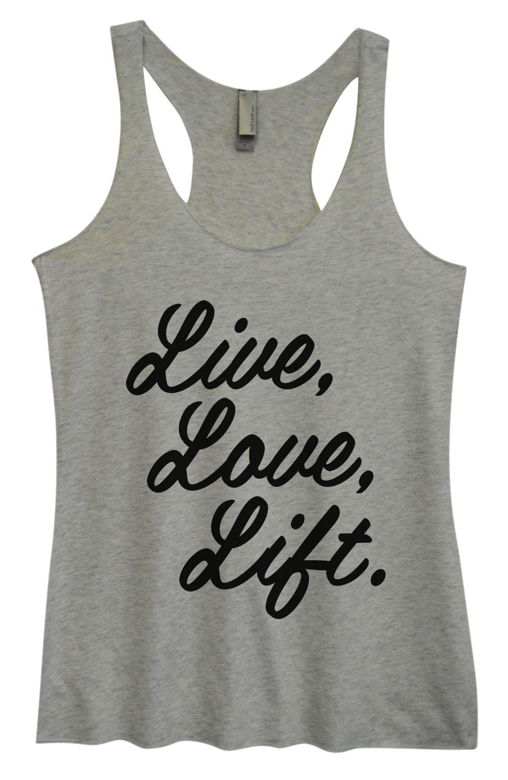 Womens Fashion Triblend Tank Top - Live, Love, Life. - Tri-1456 - Funny Shirts Tank Tops Burnouts and Triblends  - 2