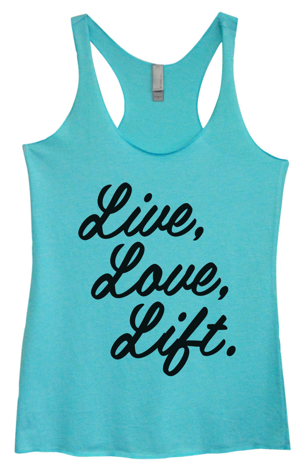 Womens Fashion Triblend Tank Top - Live, Love, Life. - Tri-1456 - Funny Shirts Tank Tops Burnouts and Triblends  - 1