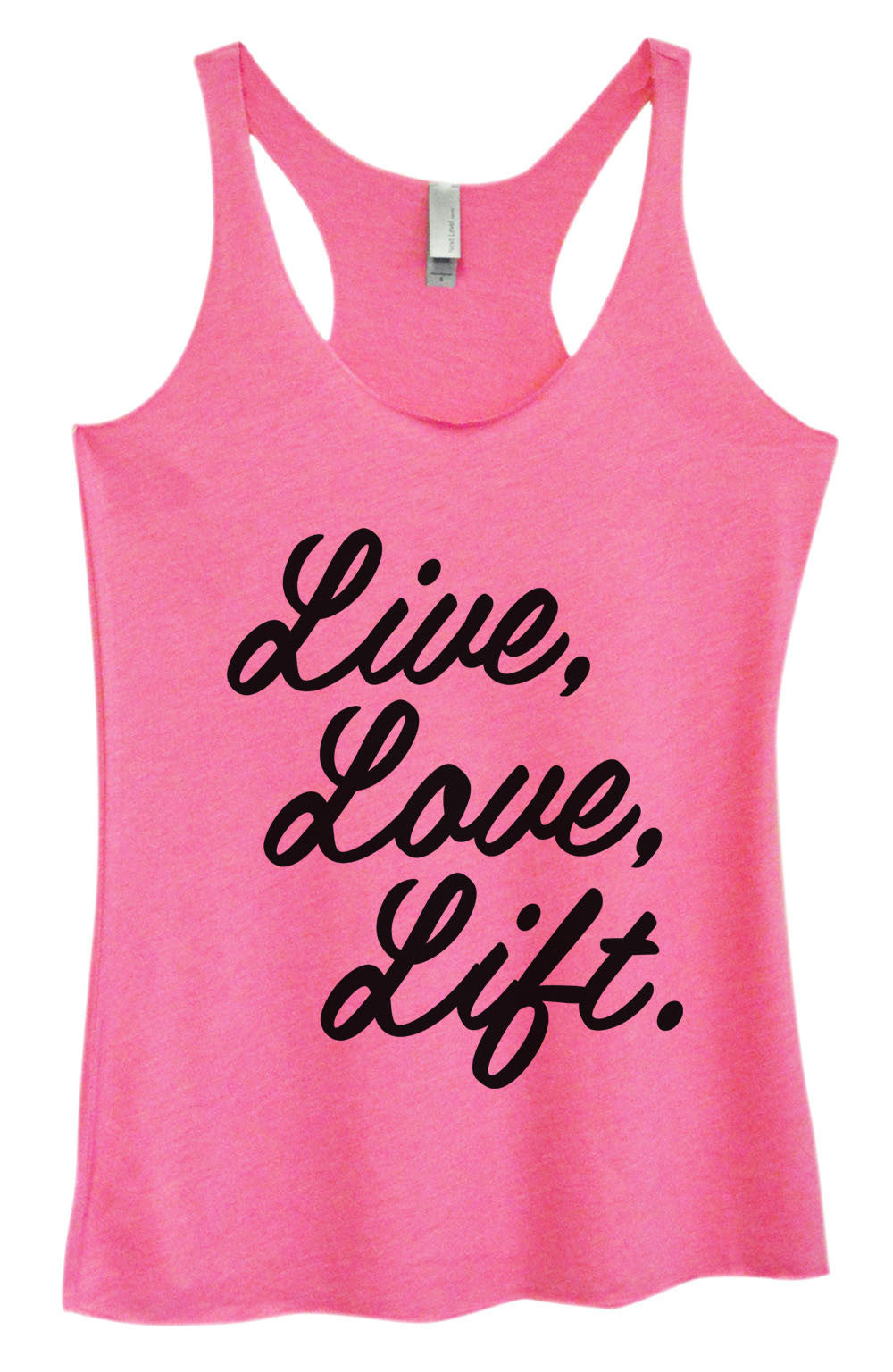 Womens Fashion Triblend Tank Top - Live, Love, Life. - Tri-1456 - Funny Shirts Tank Tops Burnouts and Triblends  - 3