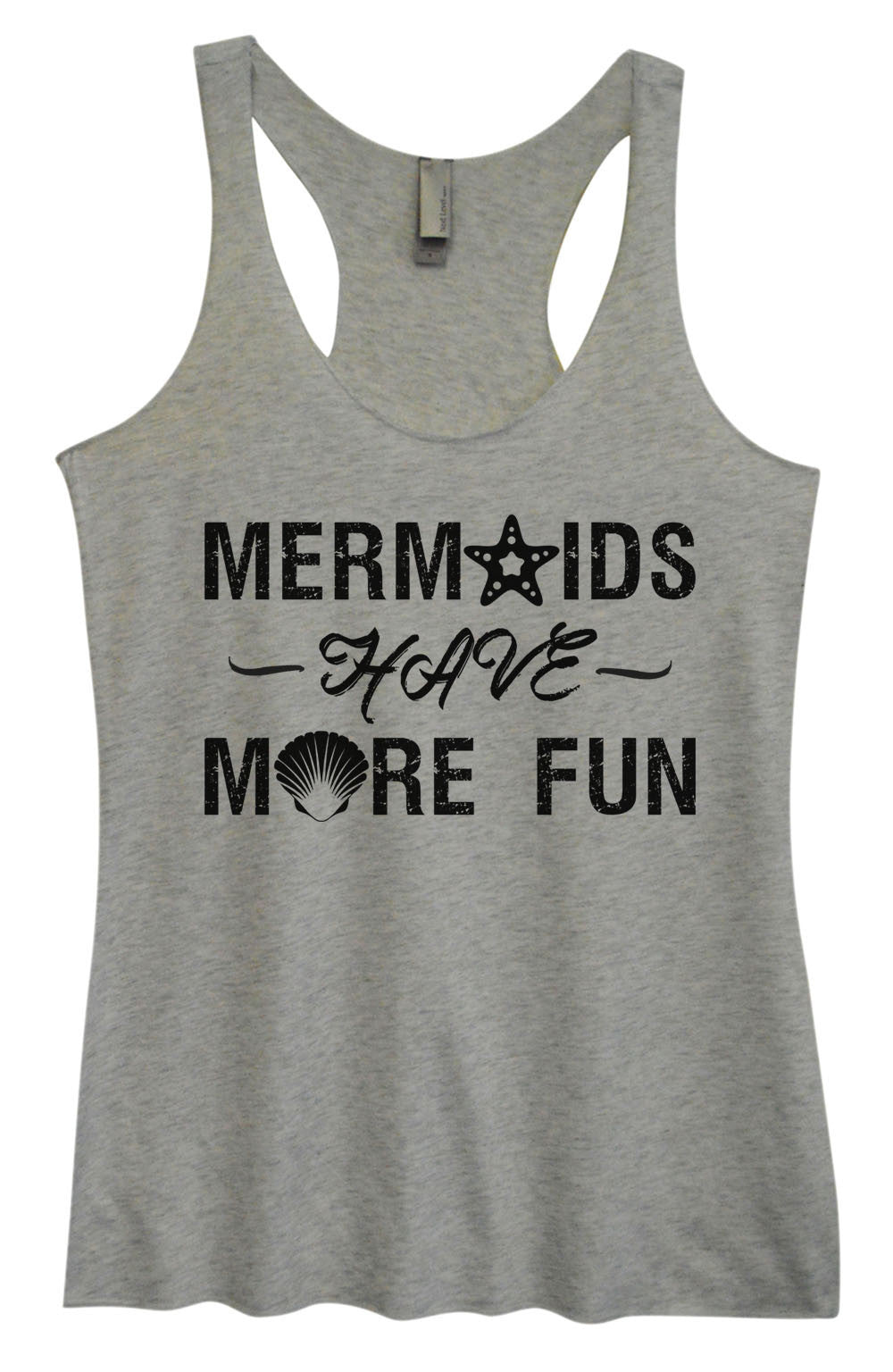 Womens Fashion Triblend Tank Top - Mermaids Have More Fun - Tri-1468 - Funny Shirts Tank Tops Burnouts and Triblends  - 2
