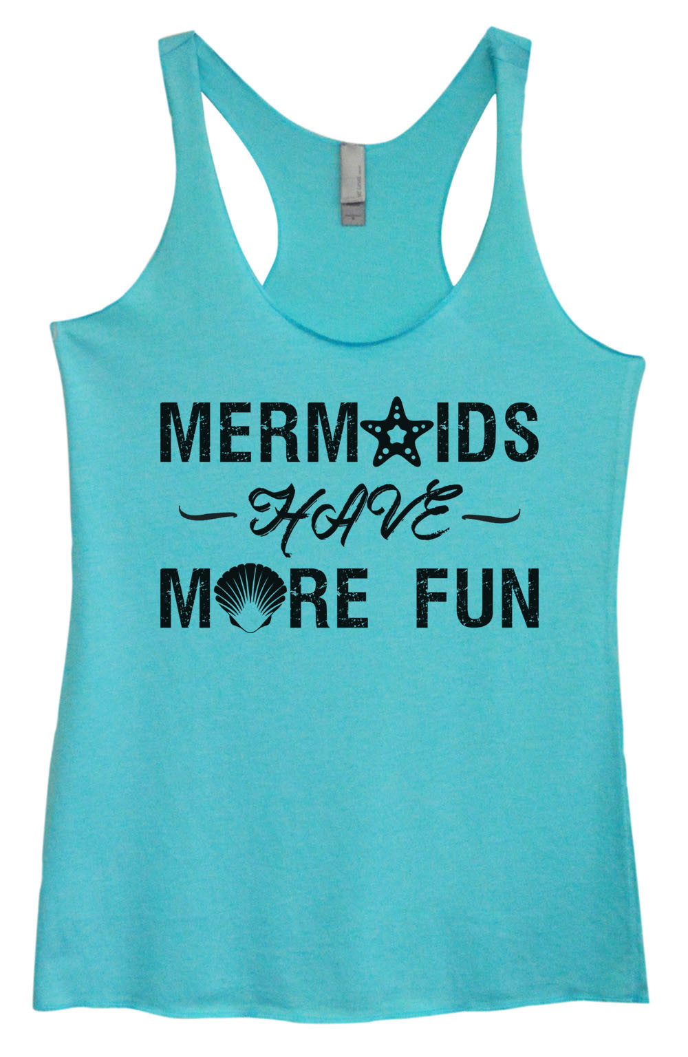 Womens Fashion Triblend Tank Top - Mermaids Have More Fun - Tri-1468 - Funny Shirts Tank Tops Burnouts and Triblends  - 3