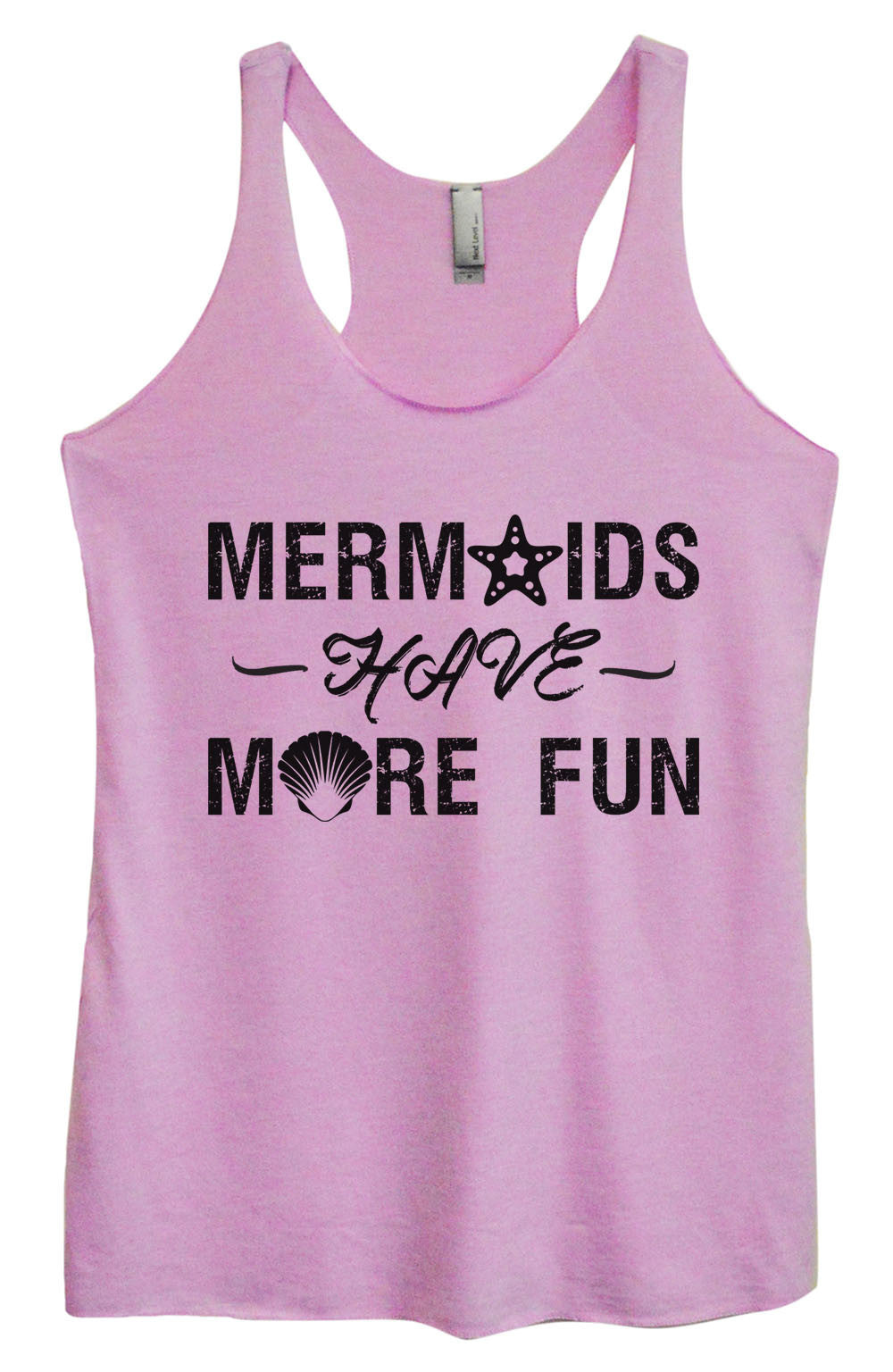 Womens Fashion Triblend Tank Top - Mermaids Have More Fun - Tri-1468 - Funny Shirts Tank Tops Burnouts and Triblends  - 1