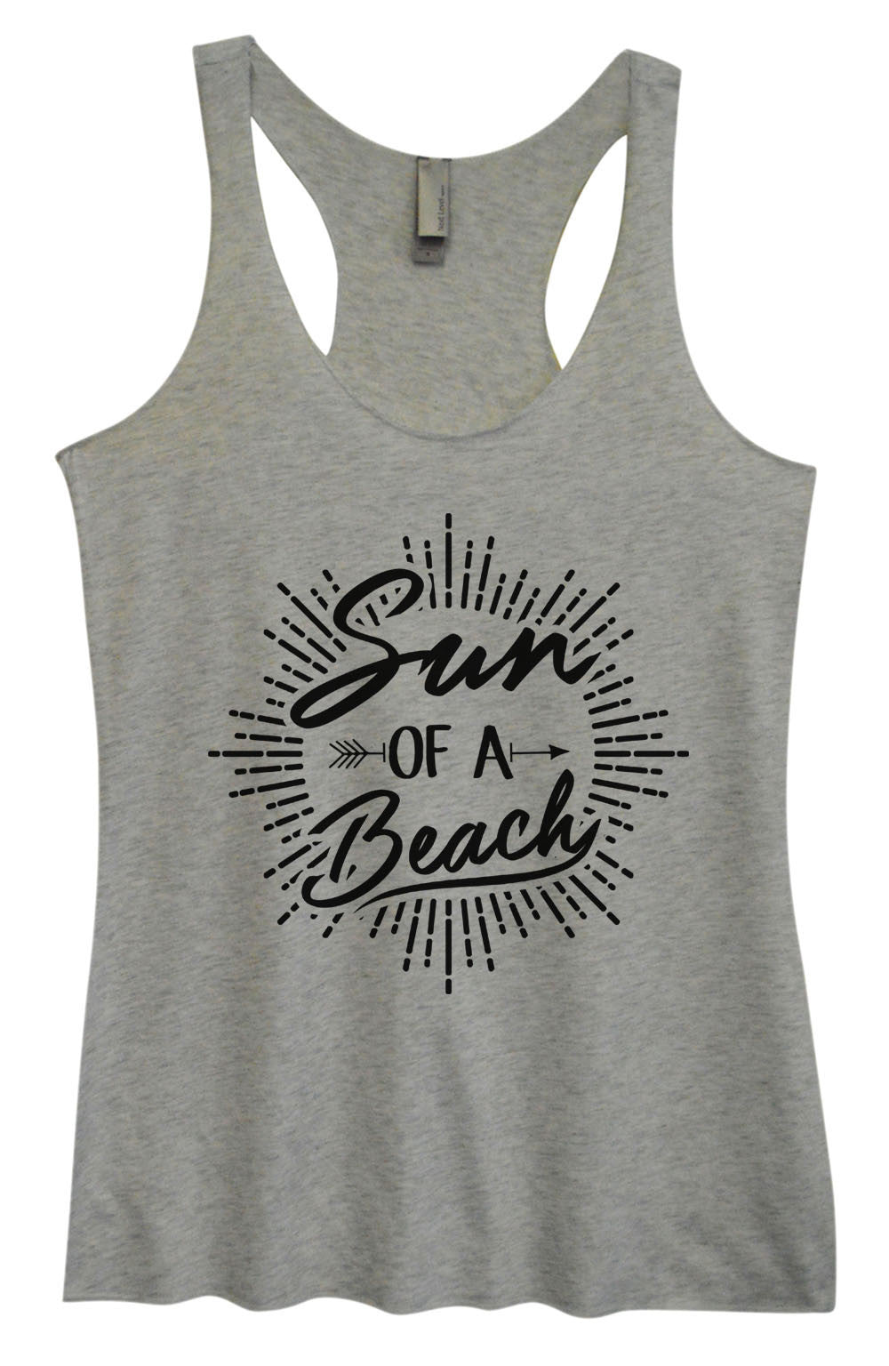 Womens Fashion Triblend Tank Top - Sun Of A Beach - Tri-1470 - Funny Shirts Tank Tops Burnouts and Triblends  - 2