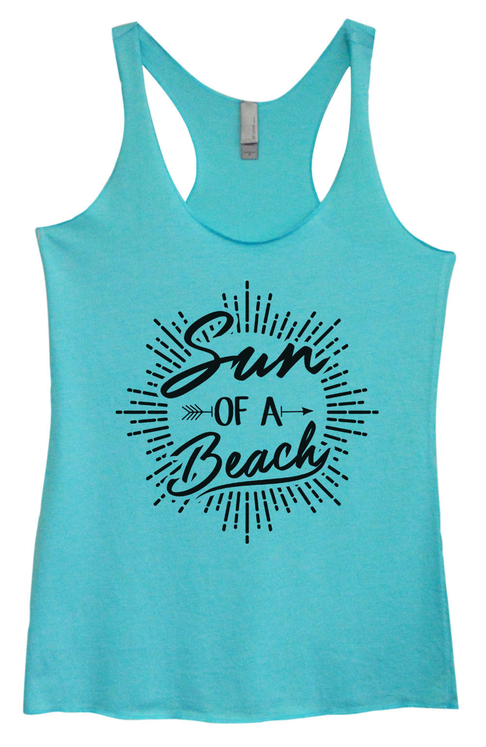 Womens Fashion Triblend Tank Top - Sun Of A Beach - Tri-1470 - Funny Shirts Tank Tops Burnouts and Triblends  - 1