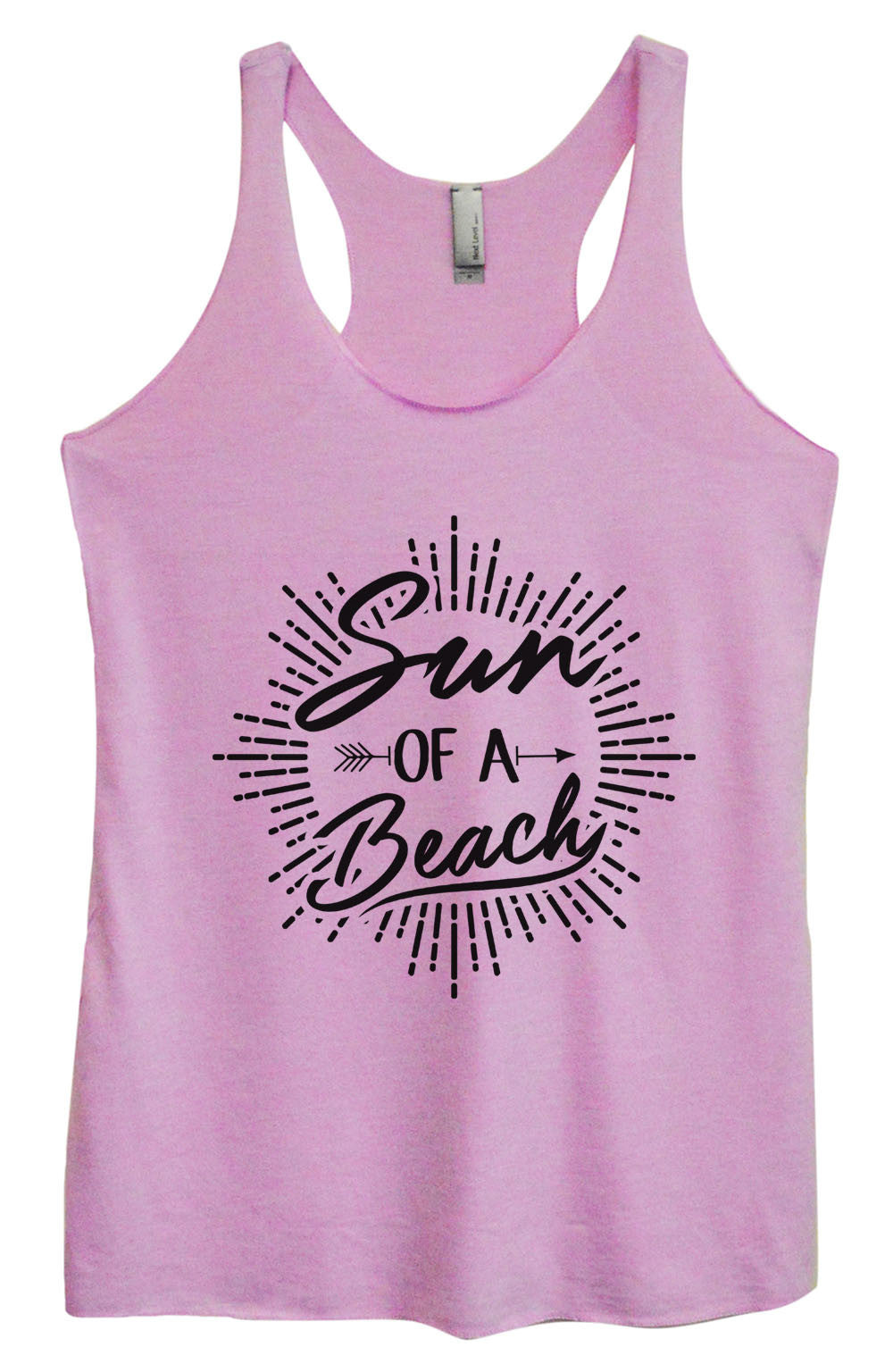 Womens Fashion Triblend Tank Top - Sun Of A Beach - Tri-1470 - Funny Shirts Tank Tops Burnouts and Triblends  - 4