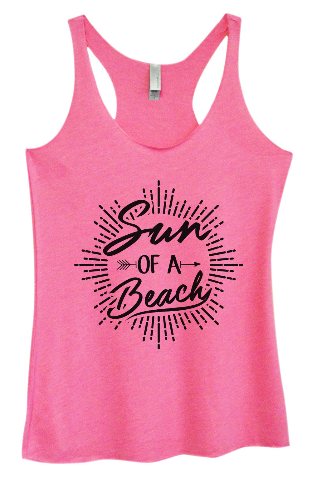 Womens Fashion Triblend Tank Top - Sun Of A Beach - Tri-1470 - Funny Shirts Tank Tops Burnouts and Triblends  - 3