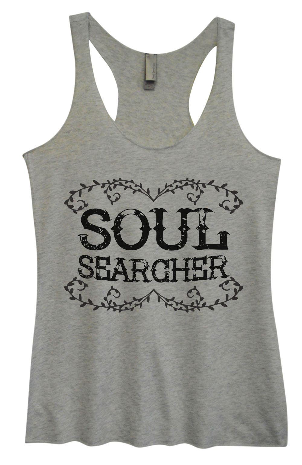 Womens Fashion Triblend Tank Top - Soul Searcher - Tri-1558 - Funny Shirts Tank Tops Burnouts and Triblends  - 2