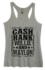 Womens Fashion Triblend Tank Top - Cash Hank Willie And Waylon - Tri-1571 - Funny Shirts Tank Tops Burnouts and Triblends  - 2