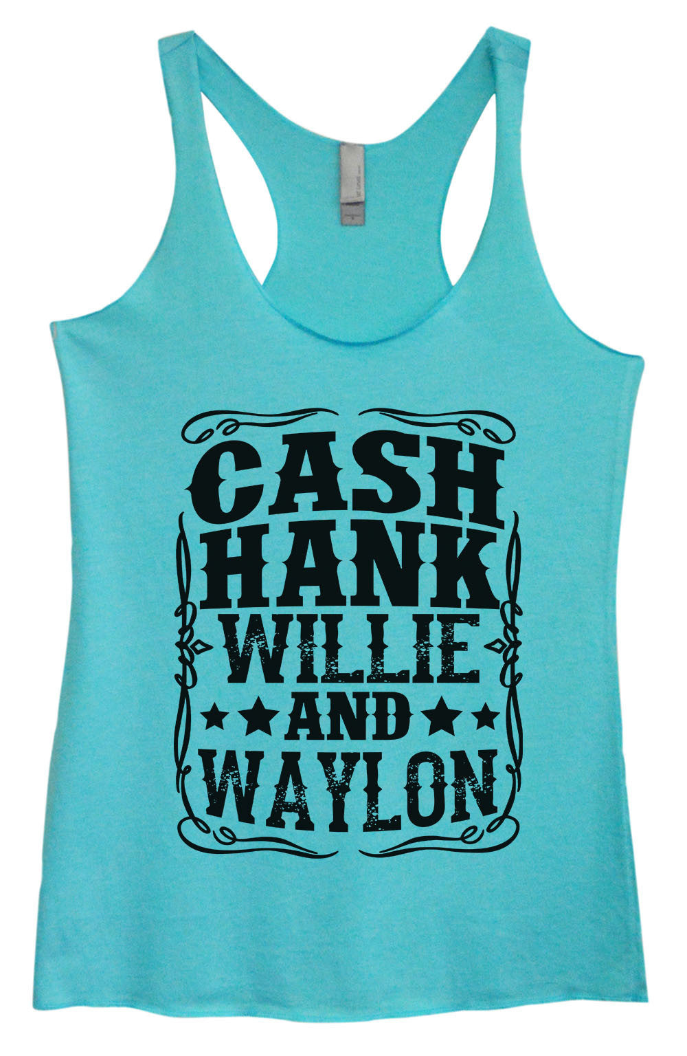 Womens Fashion Triblend Tank Top - Cash Hank Willie And Waylon - Tri-1571 - Funny Shirts Tank Tops Burnouts and Triblends  - 4