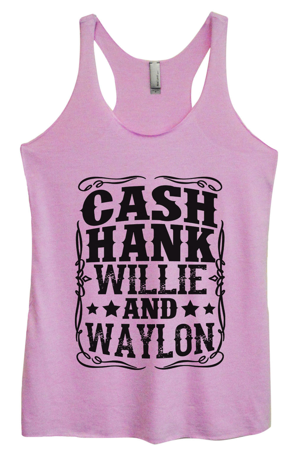 Womens Fashion Triblend Tank Top - Cash Hank Willie And Waylon - Tri-1571 - Funny Shirts Tank Tops Burnouts and Triblends  - 3