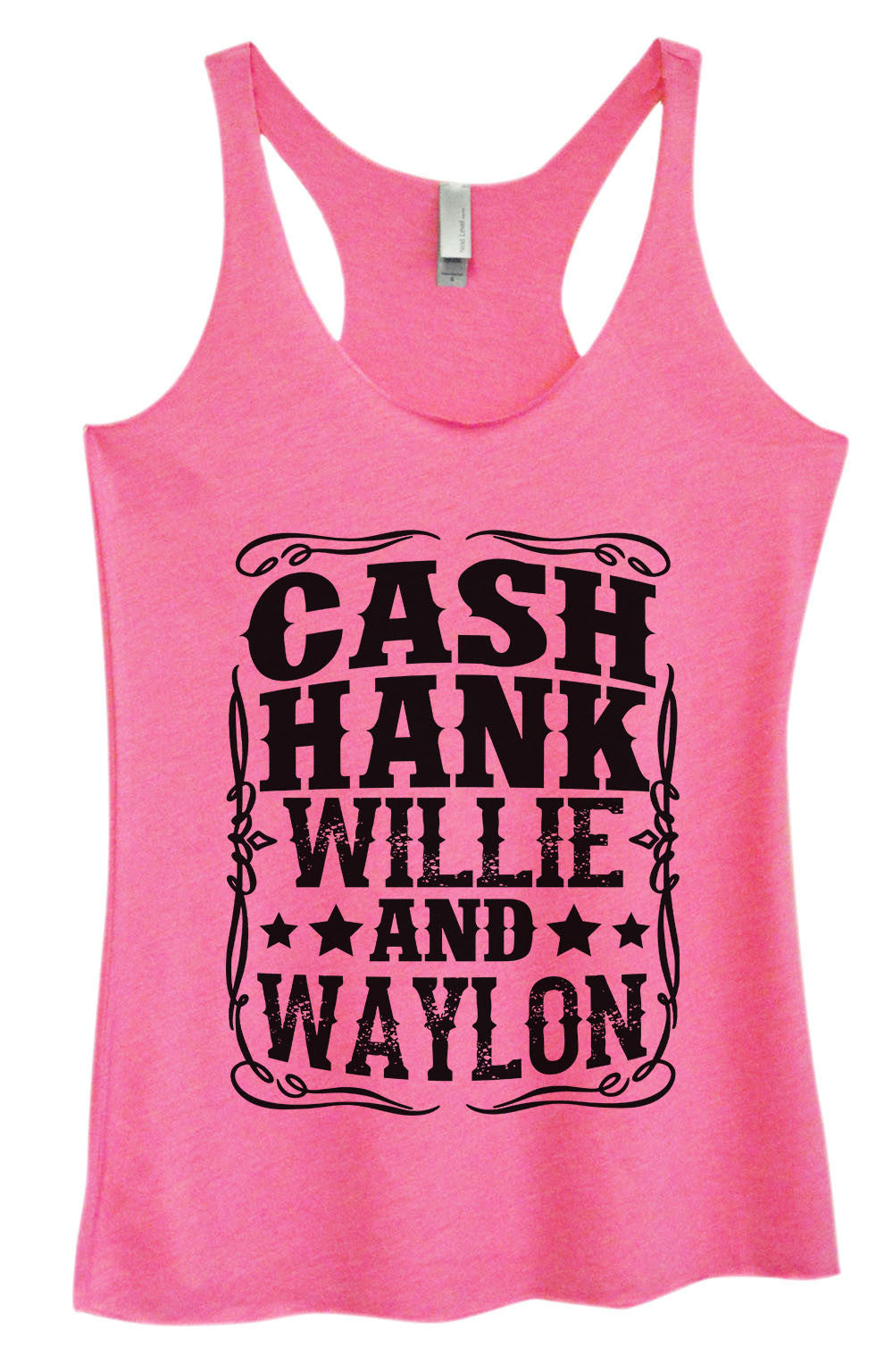 Womens Fashion Triblend Tank Top - Cash Hank Willie And Waylon - Tri-1571 - Funny Shirts Tank Tops Burnouts and Triblends  - 1