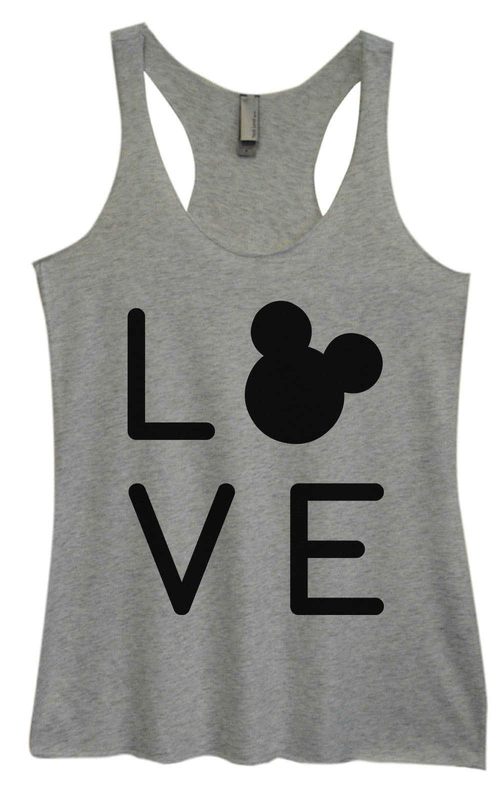 Womens Fashion Triblend Tank Top - Love - Tri-1574 - Funny Shirts Tank Tops Burnouts and Triblends  - 2