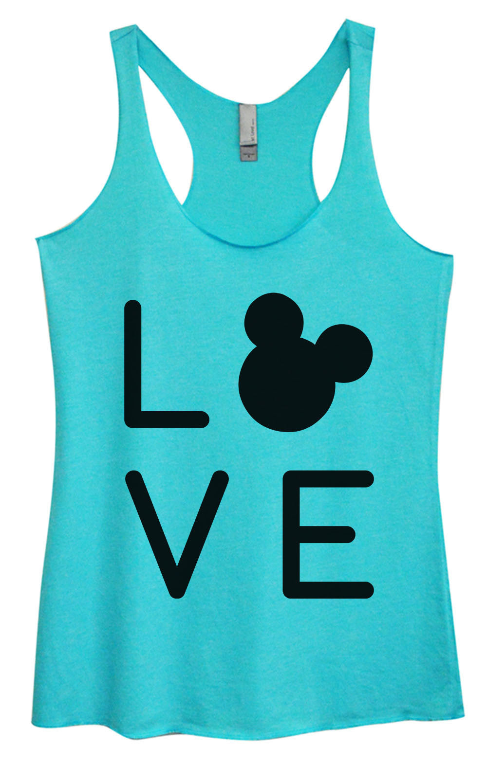 Womens Fashion Triblend Tank Top - Love - Tri-1574 - Funny Shirts Tank Tops Burnouts and Triblends  - 3