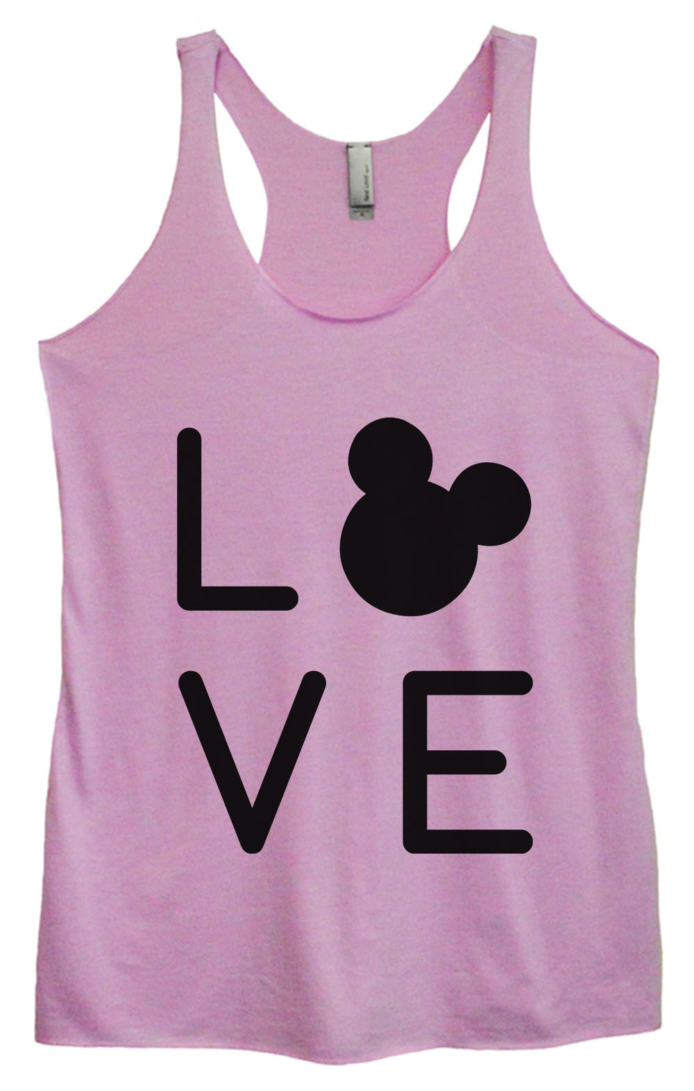Womens Fashion Triblend Tank Top - Love - Tri-1574 - Funny Shirts Tank Tops Burnouts and Triblends  - 1
